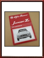 1969 Alfa Romeo Junior Z 1300 Zagato Owners Manual in ITALIAN