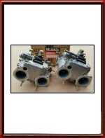 New-Old-Stock Pair of Dellorto DHLA 40 carburetors